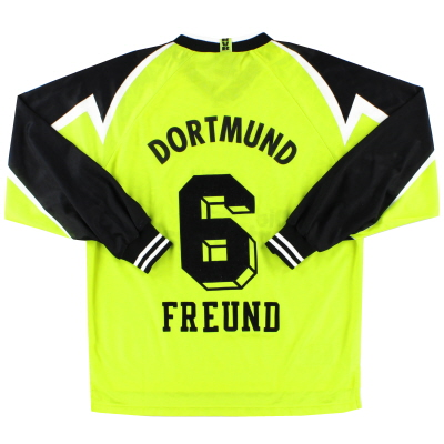1995-96 Borussia Dortmund Home Shirt Freund #6 L/S XL