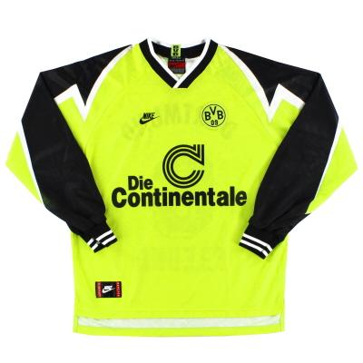 1995-96 Borussia Dortmund Nike Home Shirt L/S S