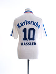 1995-96 Karlsruhe Away Shirt Hassler #10 M