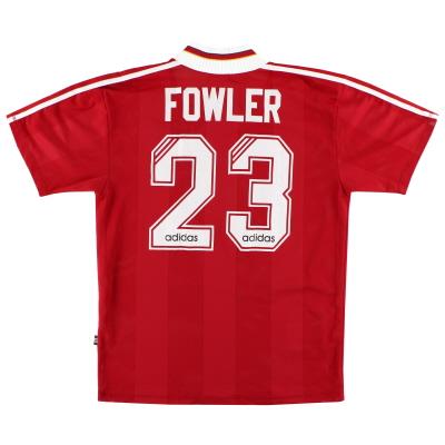 1995-96 Liverpool adidas Home Shirt Fowler #23 M