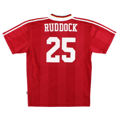 1995-96 Liverpool adidas Home Shirt Ruddock #25 *Mint* L