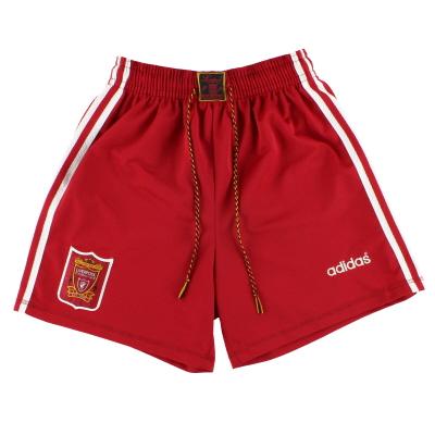 1995-96 Liverpool adidas Home Shorts XS