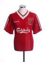 1995-96 Liverpool Home Shirt *As New* L