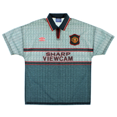 1995-96 Manchester United Away Shirt XL