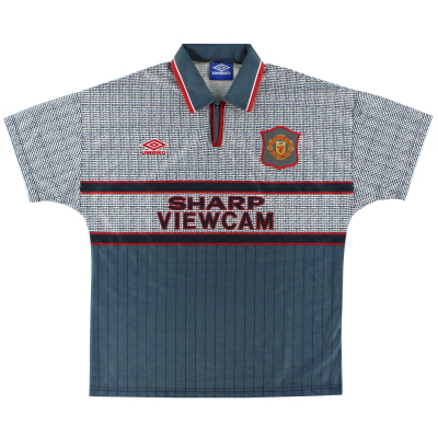 1995-96 Manchester United Away Shirt *Mint* L