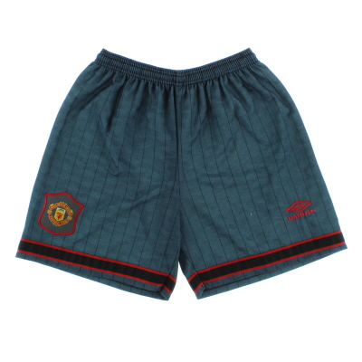 1995-96 Manchester United Umbro Away Shorts L