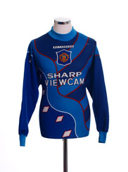 1995-96 Manchester United Goalkeeper Shirt L.Boys