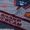 1995-96 Manchester United Grey Away Shirt XXL