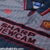 1995-96 Manchester United Grey Away Shirt L