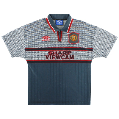 1995-96 Manchester United Umbro Away Shirt L.Boys