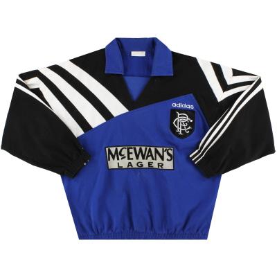 1995-96 Rangers adidas Drill Top L