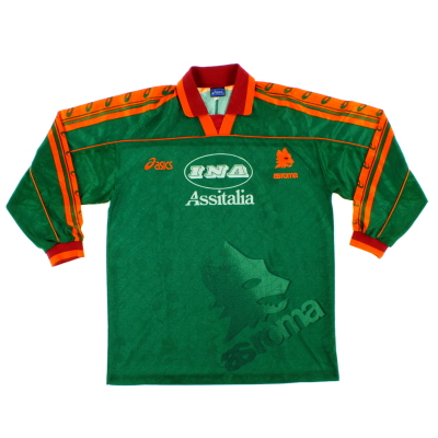 1995-96 Roma European Third Shirt L/S M