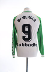 1995-96 Werder Bremen Home Shirt Labbadia #9 L/S M