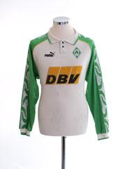 1995-96 Werder Bremen Home Shirt L/S XS