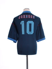 1995-97 Aston Villa Away Shirt Johnson #10 XL