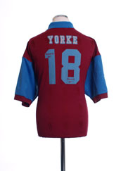 1995-97 Aston Villa Home Shirt Yorke #18 XL