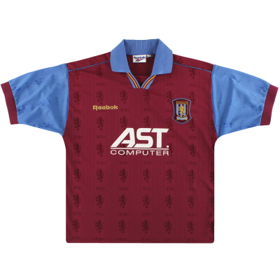 1995-97 Aston Villa Reebok Home Shirt *Mint* L