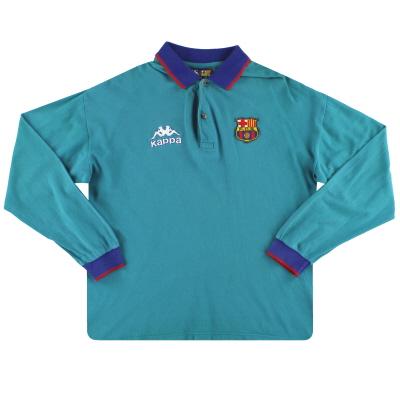 1995-97 Barcelona Kappa Polo Shirt L/S XL