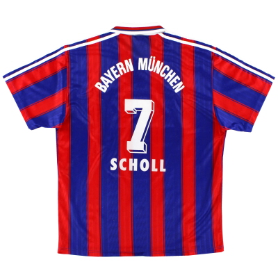 1995-97 Bayern Munich Home Shirt Scholl #7 XL