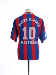 1995-97 Bayern Munich Home Shirt Matthaus #10 L