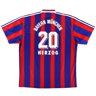 1995-97 Bayern Munich Home Shirt Herzog #20 XXL