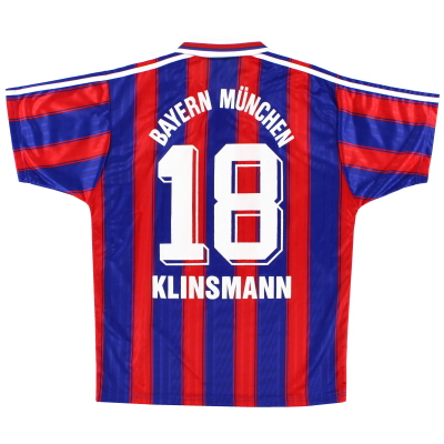 1995-97 Bayern Munich Home Shirt Klinsmann #18 *Mint* M