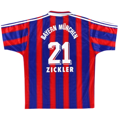 1995-97 Bayern Munich Home Shirt Zickler #21 XL