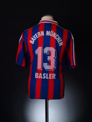 1995-97 Bayern Munich Home Shirt Basler #13 XL
