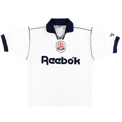 1995-97 Bolton Reebok Home Shirt *Mint* M