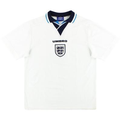 1995-97 England Umbro Home Shirt L