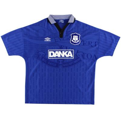 1995-97 Everton Umbro Home Shirt L