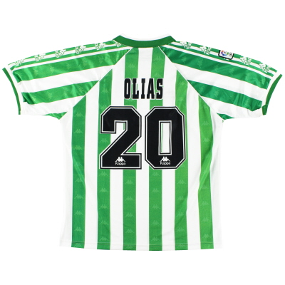 1995-97 Real Betis Match Issue Home Shirt Olias #20 XL