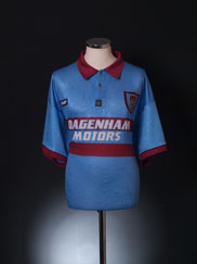 1995-97 West Ham Centenary Away Shirt XL
