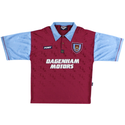 1995-97 West Ham Pony Home Shirt L