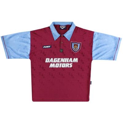 1995-97 West Ham Pony Centenary Home Shirt L