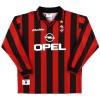 1996-97 AC Milan Home Shirt Weah #14 L/S XL