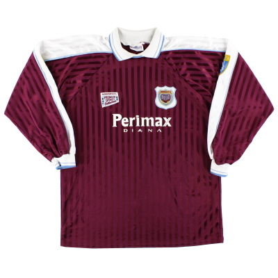 1996-97 Arbroath Match Issue Home Shirt L/S #10 L
