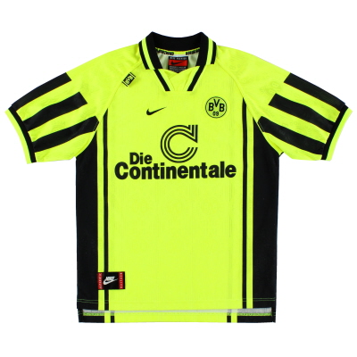 1996-97 Borussia Dortmund Home Shirt L.Boys