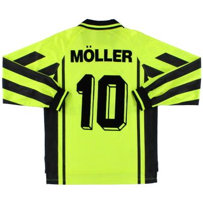 1996-97 Borussia Dortmund Home Shirt Moller #10 L/S S