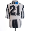 1996-97 FC Aarau Match Issue Home Shirt #21 XXL