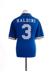 1996-97 Italy Home Shirt Maldini #3 XL