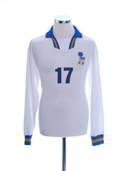 1996-97 Italy Player Issue Away Shirt #17 L/S L