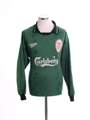 1996-97 Liverpool Goalkeeper Shirt *Mint* L