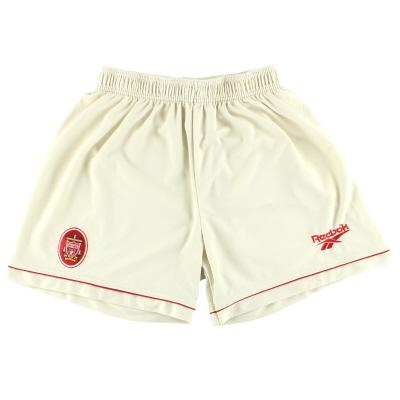 1996-97 Liverpool Reebok Away Shorts *Mint* L