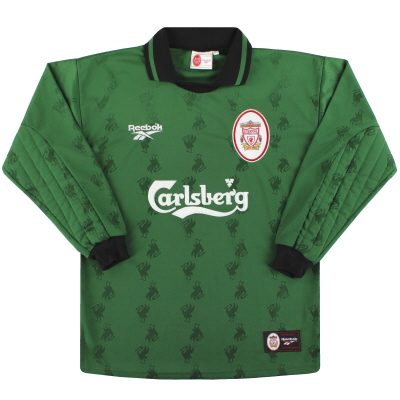 1996-97 Liverpool Reebok Goalkeeper Shirt *Mint* M