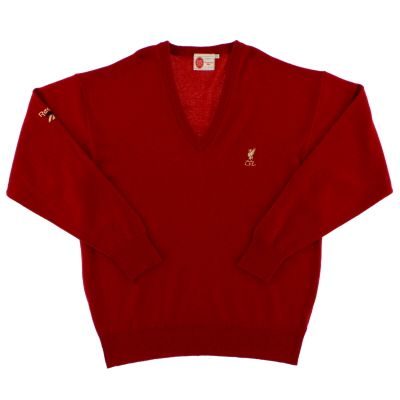 1996-97 Liverpool Reebok V-Neck Jumper L