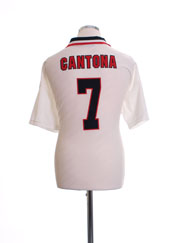 1996-97 Manchester United Away Shirt Cantona #7 L