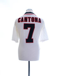 1996-97 Manchester United Away Shirt Cantona #7 XL