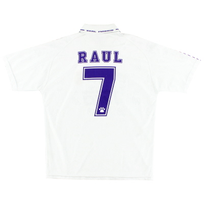 1996-97 Real Madrid Home Shirt Raul #7 XL