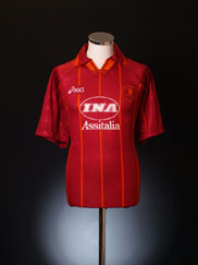 1996-97 Roma Home Shirt *Mint* L